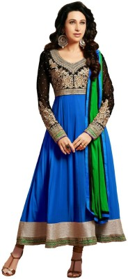 Silkbazar Synthetic Georgette Embroidered Salwar Suit Dupatta Material