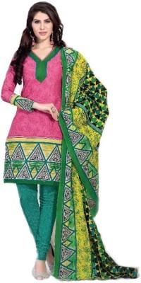 Pihu traders Cotton Printed Salwar Suit Dupatta Material