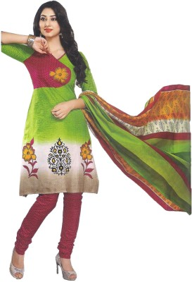 Indian Wear Online Cotton Printed Semi-stitched Salwar Suit Dupatta Material