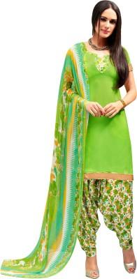 Pikasho Designer Crepe Printed Salwar Suit Dupatta Material