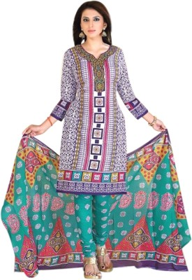 Azuresale Cotton Printed Salwar Suit Dupatta Material