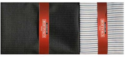 Kundan Cotton Polyester Blend Checkered, Striped Shirt & Trouser Fabric(Un-stitched)
