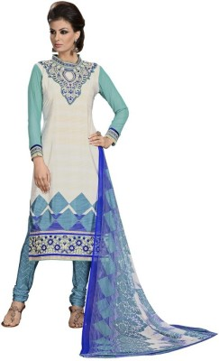 Reveka Fashion Crepe Embroidered Salwar Suit Dupatta Material
