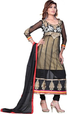 MF Retail Net Embroidered Salwar Suit Dupatta Material