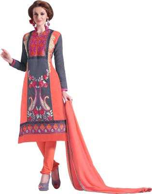 Parishi Fashion Cotton Embroidered Salwar Suit Dupatta Material