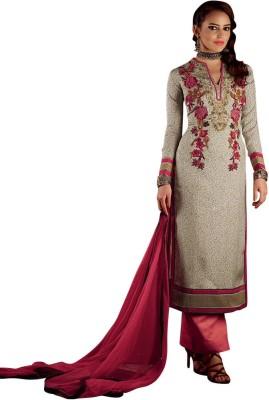 Vastrangsarees Silk Embroidered Salwar Suit Dupatta Material