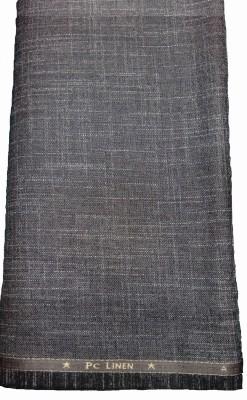 Pepper Crush Cotton Linen Blend Self Design Trouser Fabric