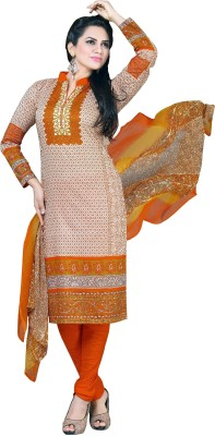 Prithi's Cotton Embroidered Salwar Suit Dupatta Material