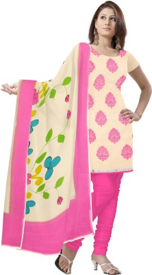 Sre Chanderi Floral Print Salwar Suit Dupatta Material