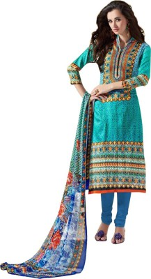 Desi By Design Cotton Embroidered Dress/Top Material