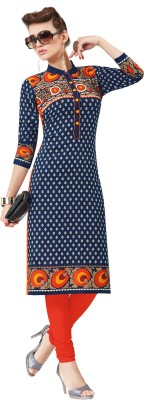 Salwar Studio Cotton Floral Print Kurti Fabric(Un-stitched)