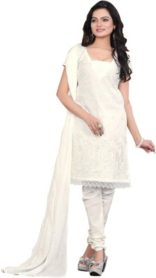 Family Shop Chiffon, Cotton Embroidered Salwar Suit Dupatta Material