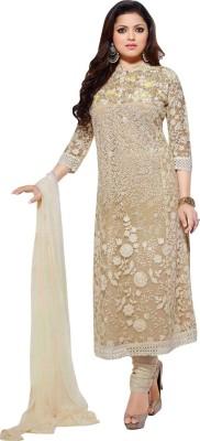 informationworlds Georgette, Net Self Design Semi-stitched Salwar Suit Dupatta Material