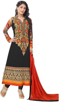 Sanchey Georgette Self Design Salwar Suit Dupatta Material