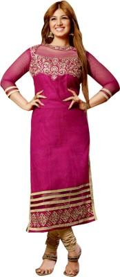 Uttam Vastra Chiffon Embroidered Semi-stitched Salwar Suit Dupatta Material