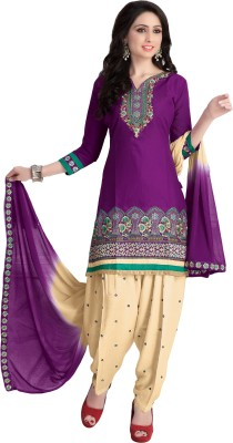 Justkartit Cotton Embroidered Salwar Suit Material