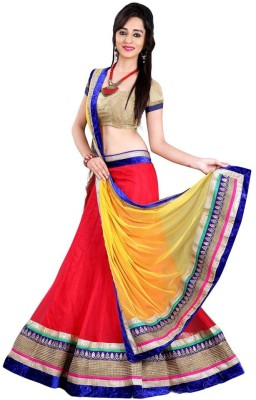 Ambe Fashion Embroidered Women's Lehenga, Choli and Dupatta Set