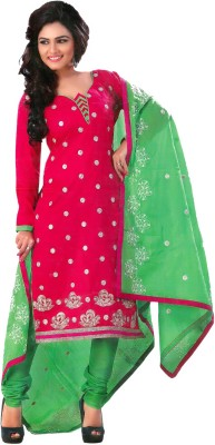 Poonam Cotton Embroidered, Printed Salwar Suit Dupatta Material