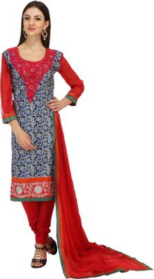 Inddus Cotton Embroidered Salwar Suit Dupatta Material