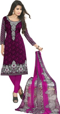 Varsha Synthetic Printed Salwar Suit Dupatta Material