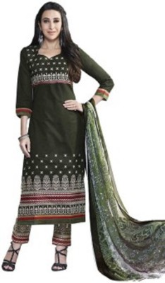 Arch_Collection Cotton Embroidered Semi-stitched Salwar Suit Dupatta Material