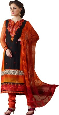 Shivamtextilehouse Georgette Embroidered Semi-stitched Salwar Suit Dupatta Material
