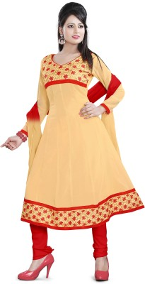 Vardhman Synthetics Georgette Self Design Dress/Top Material