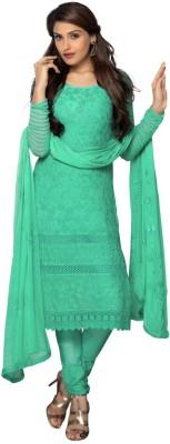 Jahnvi Chiffon Embroidered Semi-stitched Salwar Suit Dupatta Material