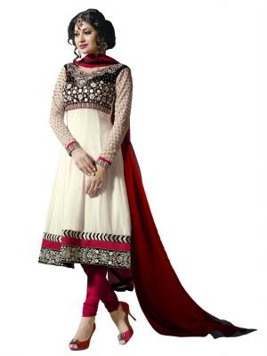 Suvastram Chiffon Self Design Salwar Suit Dupatta Material