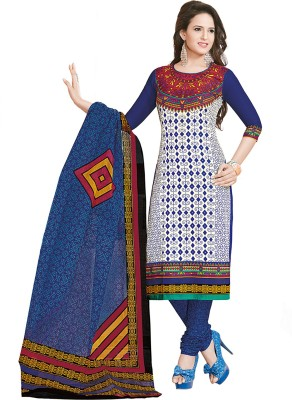 TG Shoppers Cotton Printed, Self Design Salwar Suit Dupatta Material