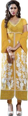 Luxuria Georgette Self Design Salwar Suit Dupatta Material