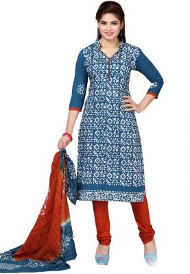 M.S.Retail Cotton Printed Salwar Suit Dupatta Material(Un-stitched)