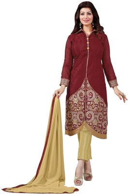 Nilkanth Communication Chanderi Embroidered Salwar Suit Dupatta Material
