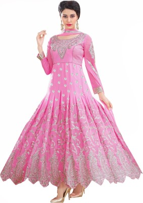 Vishnupriya Fabs Georgette Embroidered Dress/Top Material