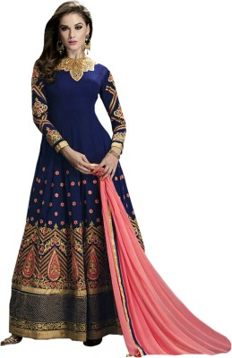 Vbuyz Georgette Embroidered Semi-stitched Salwar Suit Dupatta Material