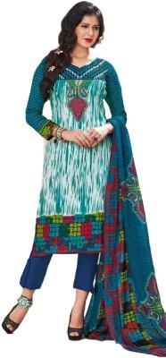 Varlaxmi Synthetic Printed Salwar Suit Dupatta Material