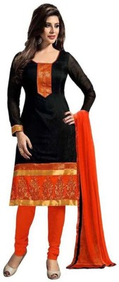 Vincitore Georgette Embroidered Semi-stitched Salwar Suit Dupatta Material at flipkart