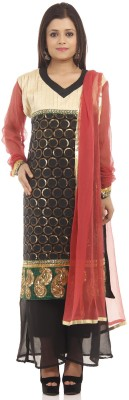 Chhabra 555 Georgette Embroidered Salwar Suit Dupatta Material