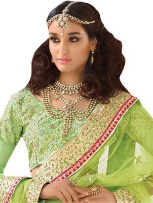 Inddus Net Embellished, Embroidered Lehenga Choli Material