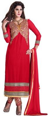Manvaa Georgette Self Design Semi-stitched Salwar Suit Dupatta Material