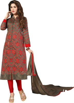 Sidhi Craft Chanderi Embroidered Salwar Suit Dupatta Material