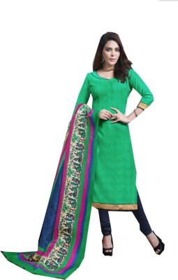 Jayanti Sarees Chanderi Solid Salwar Suit Dupatta Material