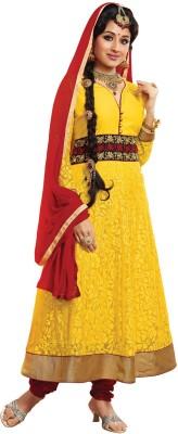 Saara Net Self Design Dress/Top Material