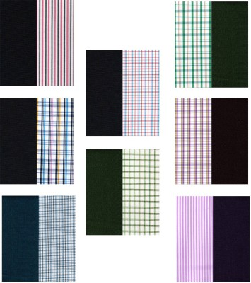 Jhon Diego Polyester Checkered, Striped Shirt & Trouser Fabric