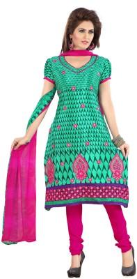 Fabdeal Crepe Printed Salwar Suit Dupatta Material