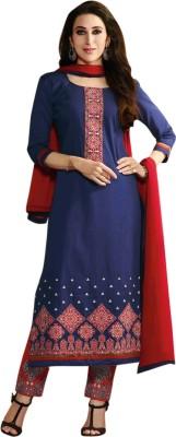Utaam Vastra Cotton Embroidered Salwar Suit Material