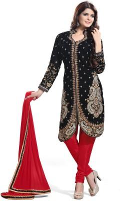 Value Added Fashion Velvet Self Design Semi-stitched Salwar Suit Dupatta Material