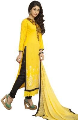 Shree Vardhman Chanderi Floral Print Semi-stitched Salwar Suit Dupatta Material