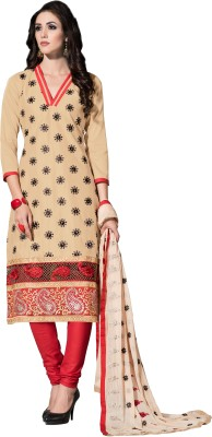 Fashion Spot Georgette Embroidered Salwar Suit Dupatta Material