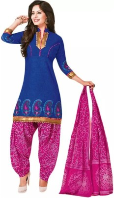 Fashion Valley Cotton Printed, Self Design Salwar Suit Dupatta Material